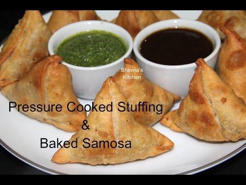 Pressure Cooked Stuffing & Baked Samosa Video Recipe   Bhavna's Kitchen