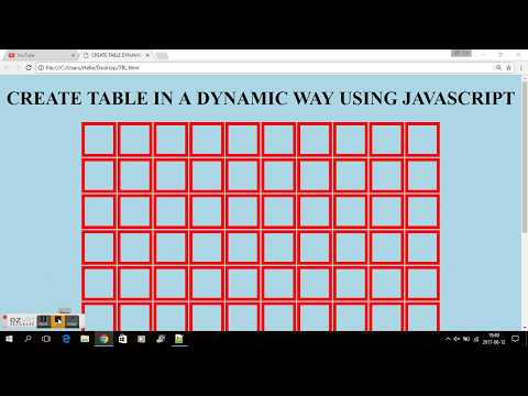 JAVASCRIPT - CREATE A HTML TABLE IN A DYNAMIC WAY!