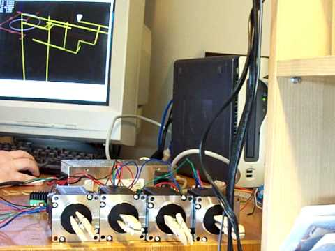 stepper motors controlled by a computer!