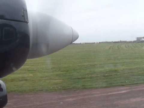 North Ronaldsay to Kirkwall Loganair Orkney Islands take off