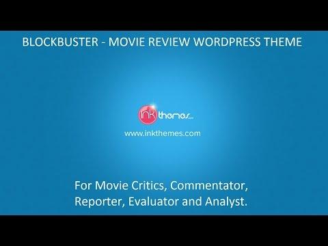 BlockBuster - Movie Review WordPress Theme