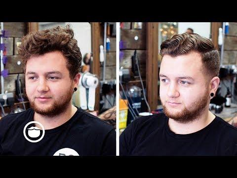 Wavy Mens Haircut Transformation