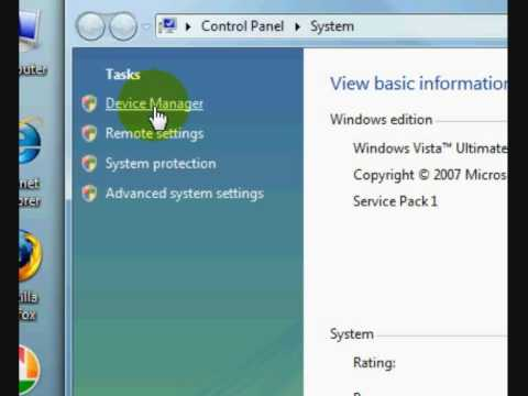 How to access device manager in Windows Vista