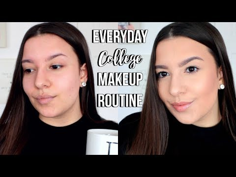 My Everyday College Makeup Routine | Jackie Ann