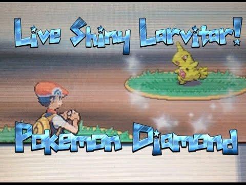 Pokemon Diamond - LIVE shiny Larvitar!! + shiny patch