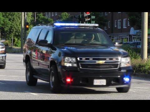US Delegation United States Secret Service mit Polizeibegleitung