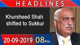 Headlines | 8 PM | 20 September 2019 | 92NewsHDUK