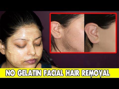 *NO GELATIN* How To Remove Facial Hair Naturally At Home | Indian Makeup