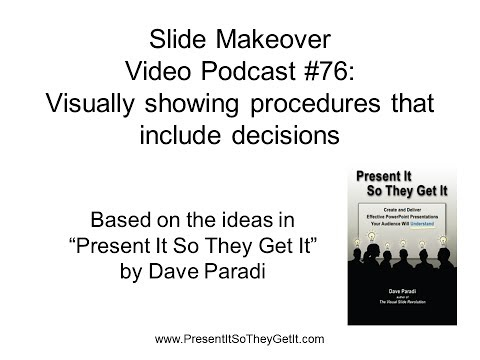 PowerPoint Slide Makeover #76: Visually showing procedures that have decisions