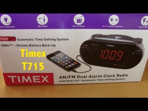 Timex Alarm Clock AM FM Dual Radio MP3 Line-in Ready Review Quick Look