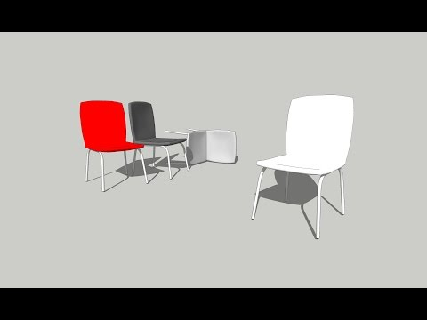 How to draw Chair on SketchUp / Interior part-03
