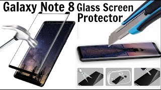 Galaxy Note 8 Glass Screen Protector ! 99.99% Crystal Clear High Definition HD Clarity