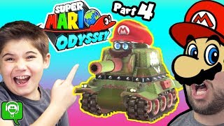 Mario Odyssey Part 4 with Tank Bursting Fun by HobbyKidsGaming