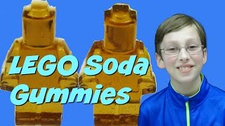 How To Make LEGO Gummy Candy With Coke & Orange Crush Soda  | CollinTV