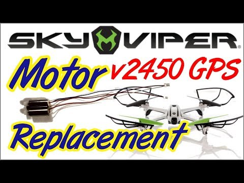 Sky Viper V2450 GPS Drone Motor replacement.