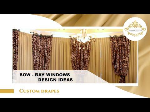 Video #4: How to Install Drapes in Bay Windows | Bay Window Treatment Ideas | Custom Curtain Design