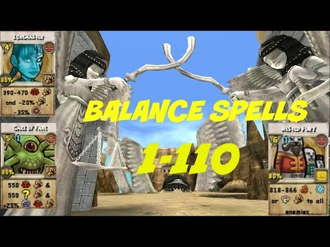 Wizard101: All Balance Spells Level 1-110