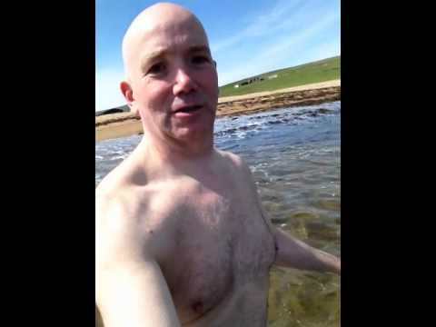 Swimming Skaw Beach Unst Shetland May 2014