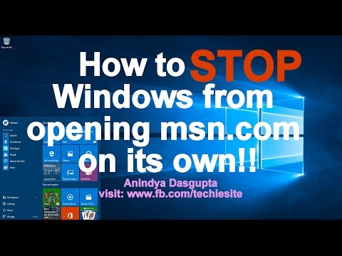 How to STOP Windows 10 from Opening Bing on its own