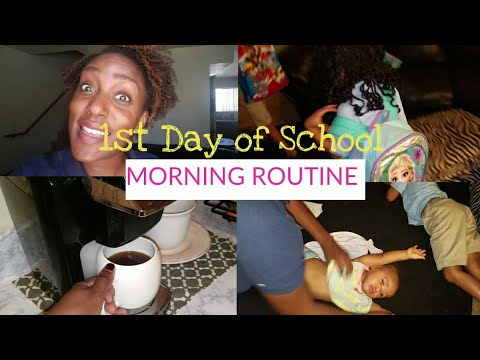 Single Mom Morning Routine/1st Day of School Routine/ Working Mom Morning routine/Wake up with me