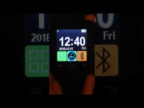 Can not change the U8 smart watch to analog clock
