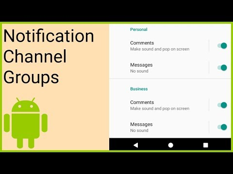 Notifications Tutorial Part 8 - NOTIFICATION CHANNEL GROUPS - Android Studio Tutorial