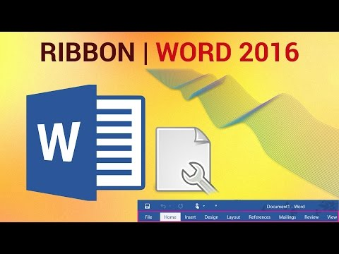 How to Customize the Ribbon in Word 2016