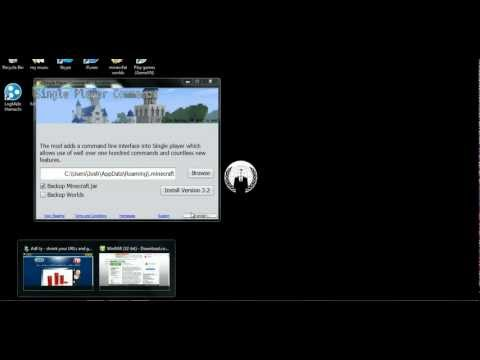 Minecraft how to install Single player commands 1.5.2