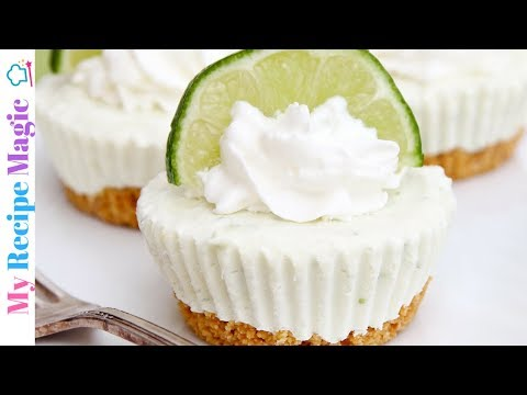 Mini No Bake Key Lime Cheesecakes