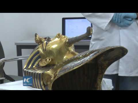 RAW: Restoration of Tutankhamun mask underway in Egypt