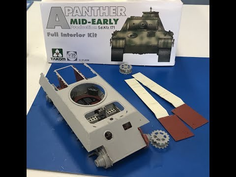 Building the Takom Panther A with full interior Part 1 step by step