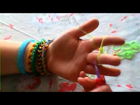 How to make a 4-pin dragon scale loom bracelet/ ring on your fingers.