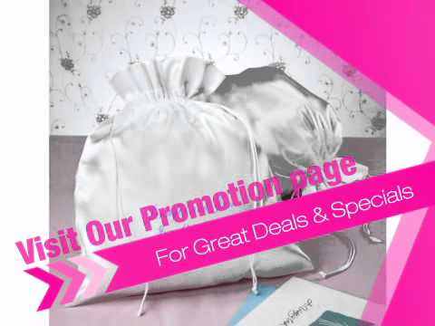 Monogrammed Bridal Money Bag in White or Ivory