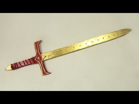 How to Make a foamboard Sword