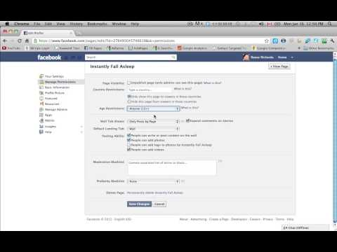 Facebook Business Pages - Editing Your Settings and Permissions