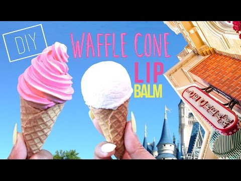 DIY Waffle Cone Lip Balm - How To Make Vegan Lip Balm