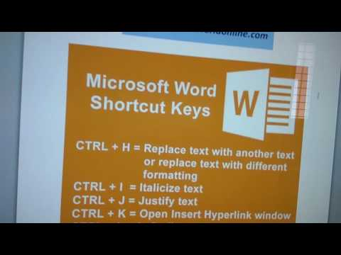 Microsoft Word Shortcut Keys And Their Functions