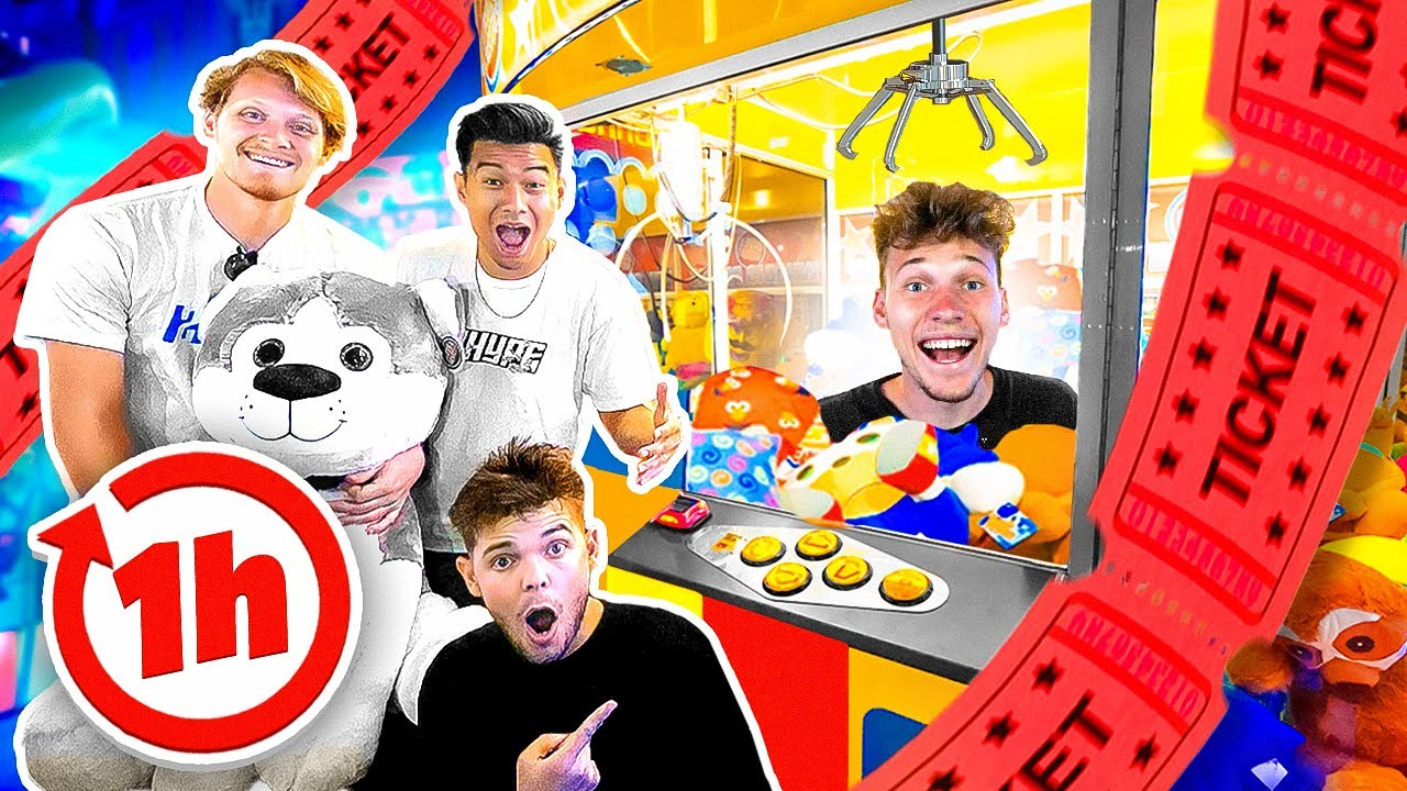 Who Can Win The Most Arcade Tickets in 1 Hour Challenge!?