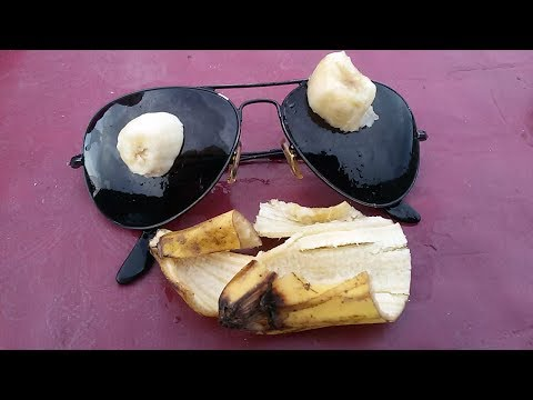 HOW TO REMOVE SCRATCHES OF SUNGLASSES WITH BANANAS