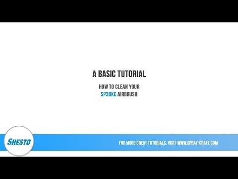 How To Clean Your SP30KC Airbrush - Basic Tutorial