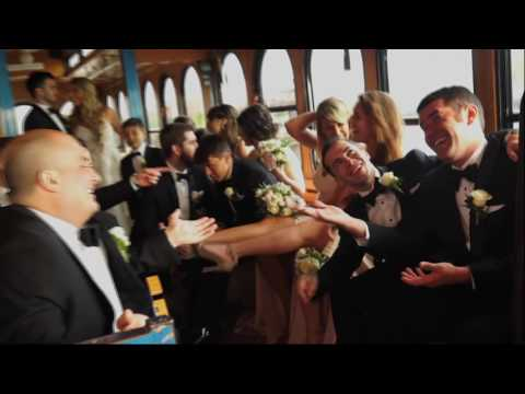 NY Trolley Wedding Transportation - Bridal Party, Shuttle, and Champagne Toast in NYC