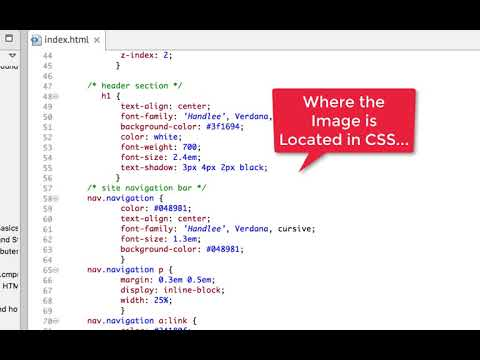 Adding an Image and Background Image Using HTML and CSS