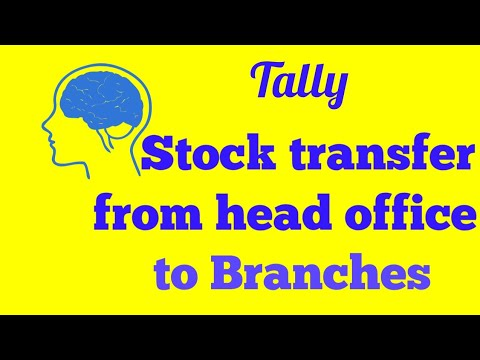 Stock transfer outwards and inwards in tally erp9