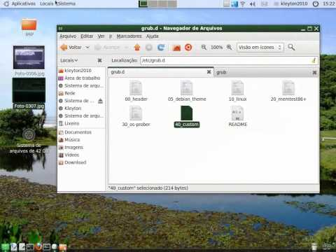 Alterar menu do GRUB 2 do Ubuntu 10.04