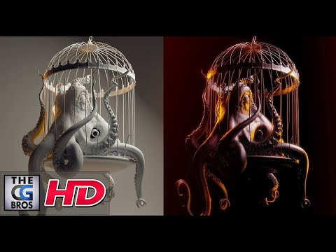 CGI 3D Modeling : 'The Making of the 'Evil Octopus' by - Lightfarm Studios