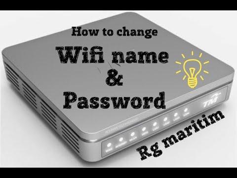 how to change wifi name & password   Rg maritim
