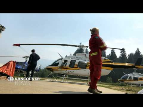 CBC News Vancouver: Fighting the flames from 1,500 metres above sea level