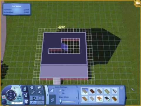 The Sims 3- How to make a basement with foundation using the basement tool