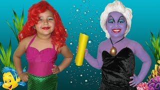 Disney The Little Mermaid Ariel and Ursula Makeup Halloween Costumes and Toys