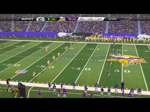 Madden NFL 25 Playstation 4 Gameplay! (PS4 Vikings vs Packers 1080p HD)